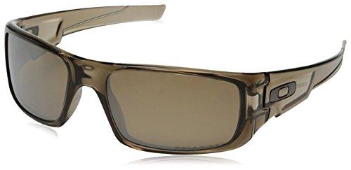 Oakley Herren Crankshaft Rechteckig Sonnenbrille, Brown Smoke/Tungten Iridium Polarized