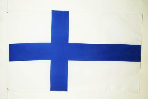 DRAPEAU FINLANDE 150x90cm - DRAPEAU FINLANDAIS 90 x 150 cm - DRAPEAUX - AZ FLAG