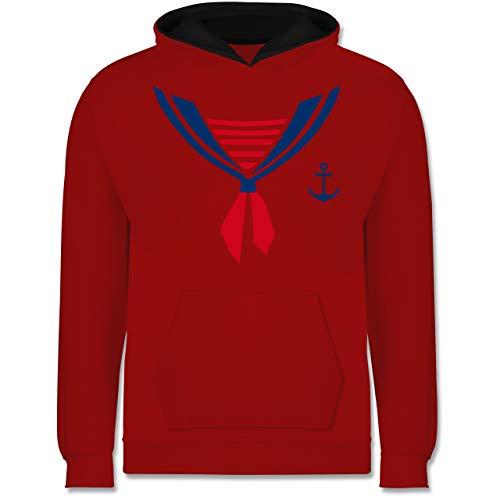 Shirtracer Karneval & Fasching Kinder - Seefahrer Kostüm Halstuch - 9-11 Jahre (140) - Rot/Schwarz - JH003K - Kinder Kontrast ()