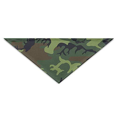 Hectwya Buntes grünes Dschungel-Militär-Camo-Hundebandanas-Schals-Dreieck-Lätzchen Schals-Mode-grundlegende Halstuch-Katzen-Kragen