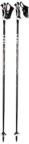 LEKI Erwachsene Skistöcke Speed S Airfoil, Black, Red-White-Anthracite, 110 cm, 631-6795