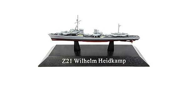 German Z21 Wilhelm Heidkamp Destroyer 1943 KS45  Deagostini 1//1250 New OVP