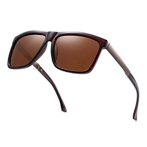 Polarisiert Spiegel Sonnenbrille Platz Fahren Sonne Brille Schatten für Damen Herren(Braun/Polarisiertes Braun)