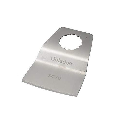 Qblades Segment-Spachtel (SC-Aufnahme), für Kit und Leim geeignet, 52 mm Form konkav