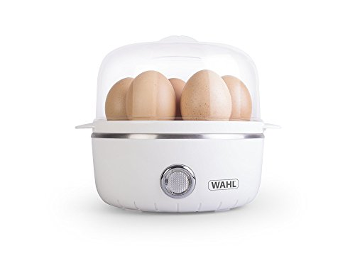 310aMk0I7kL - Wahl Egg Boiler Electric with 2 Poaching Pods, Cooks Up to 7 Eggs, Non Stick, Removable Egg Tray, White Plastic…