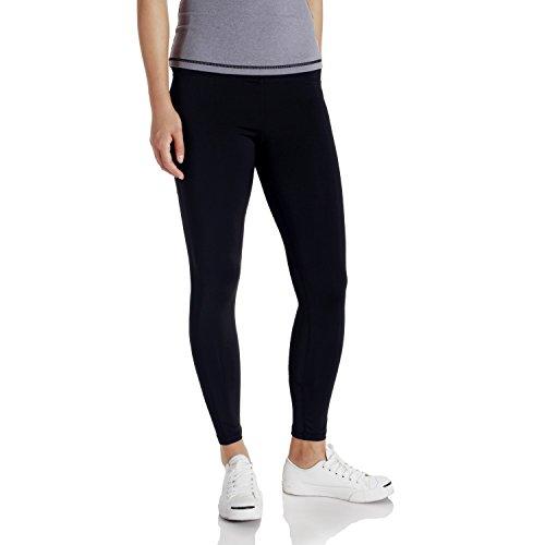 bjerka Damen Legging-s, Sport Leggin-s für Mädchen lang-e, Hohe Hüfte Taille, High Waist Zumba Yoga Pant-s Sporthose-n, Laufhose-n, Schwarz Large Black L
