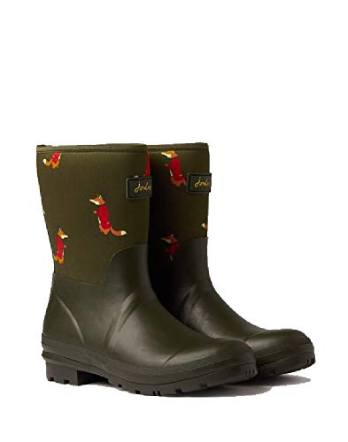 Joules Womens Neoprene Molly Mid Height Rain Boots