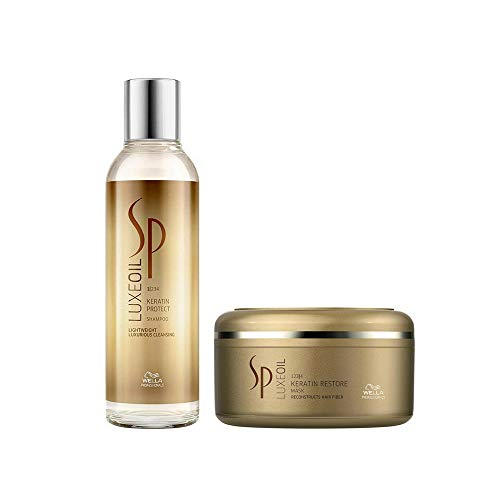 WELLA SP System Professional Luxe Oil Duo Keratin Protect Shampoo 200 ml + Keratin Restore Mask 150 ml