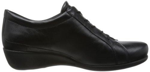 Ecco - Scarpe basse stringate, Donna Nero(Black 11001)