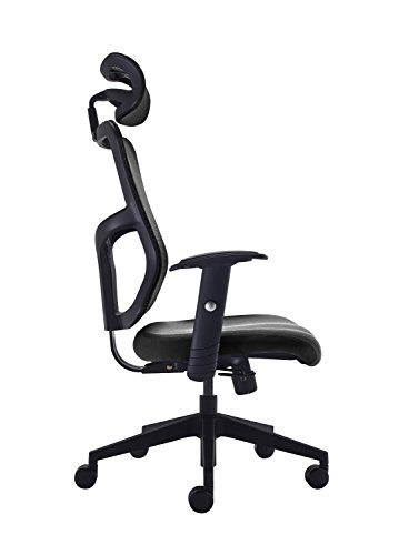 310aWhw %2BSL - Office Hippo High Back Mesh Office Chair with Adjustable Arms and Mesh Headrest, Fabric, Black