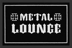 Knistermann Tapis Metal Lounge Tapis Anti-Poussière Porte ABS Paillasson de 60 x 40 cm