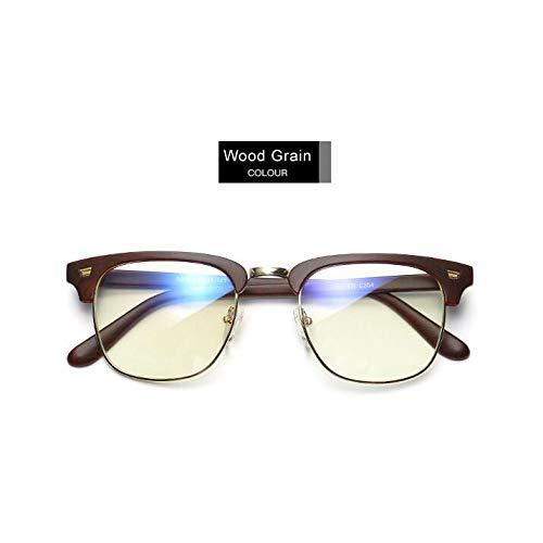 YMTP Klare Linse Gefälschte Gläser Schutz Brillen Titan Rahmen Lesen Computer Brille Für Frauen Männer