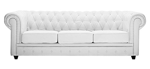 Chester Sofa White - Three Seater