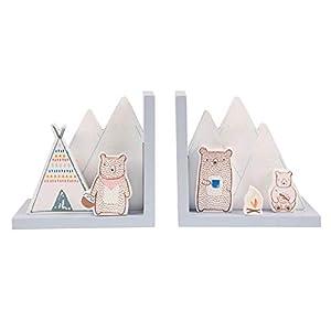 Sass & Belle Bücherstützen für Kinder im Gebirgsbärenlager-Stil.