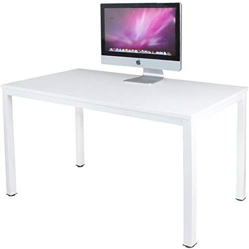 Need Schreibtisch Computertisch PC Tisch Bürotisch Arbeitstisch Esstisch für Arbeitszimmer,120x60CM,Weiß,AC3DW