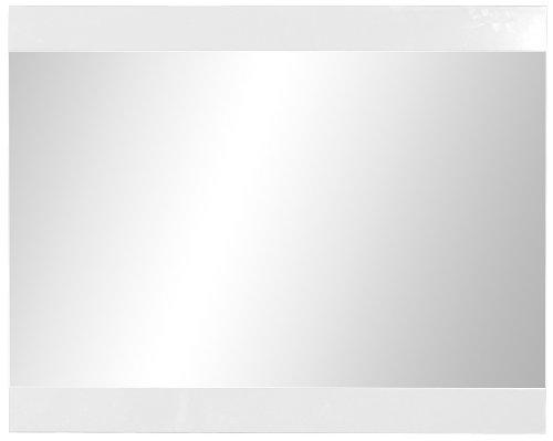 Germania 1360-84 Spiegel mit Hochglanz-Applikationen GW-Gala in Weiß, 96 x 76 x 3 cm (BxHxT)
