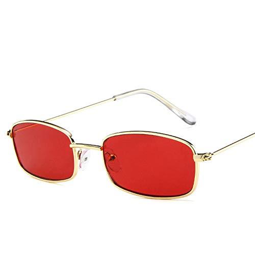 YUHANGH Frauen Metall Sonnenbrille Männer Retro Kleine Quadratische Sonnenbrille Weibliche Gelb Rosa Objektiv Gläser Kleinen Rahmen Shades Brillen 2019