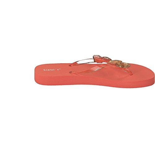 Siebi's MIAMI à la mode Tongs de piscine Flips Femmes Orange