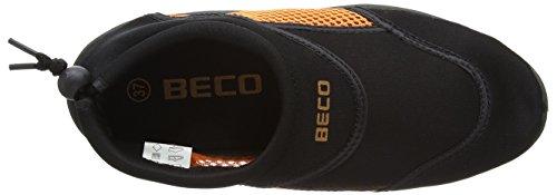 Beco Badeschuh Beco Surf- 9217, Scarpe da immersione uomo Nero/Arancione