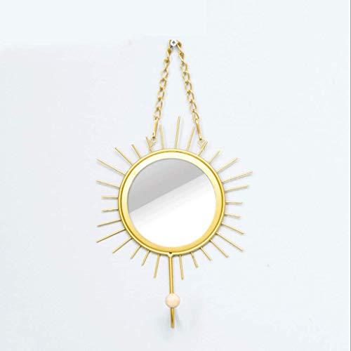 Verknüpfte Europäischen Stil Wandveranda Regal Gold Sonnenbrille Gesteppte Haken Wandbehang Zimmer Kreative Haken Schlüsselhalter (Farbe : Golden Mirror)