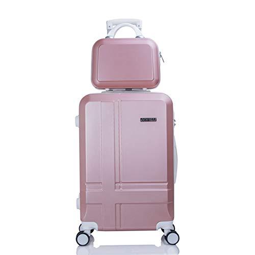 GJF Kosmetikkoffer-Kofferset, Universal-Radkoffer, Gepäckaufbewahrungsbox, Geschäftsreise-Rosegold-XXL