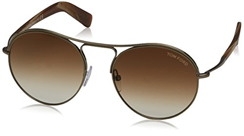Tom ford ft0449_met_33f (54 mm), montature unisex-adulto, dorado, 54
