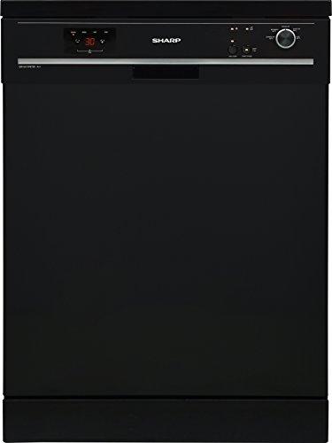 Sharp QW-GX13F472B-DE Geschirrspüler Freistehend / A++ / AquaStop / Start-Stop-Automatik / Halbe Beladung Funktion / Besteckkorb / Express 50 Funktion / Klappbare Ständer / 13 Maßgedecke / schwarz E-qw
