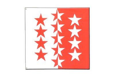 MaxFlags® Drapeau canton Valais - 120 x 120 cm