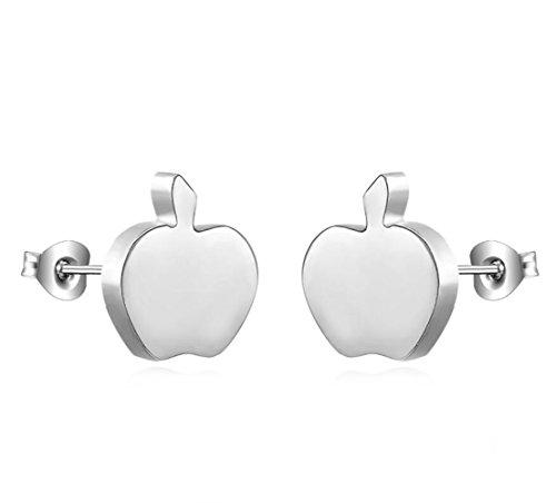 Gudeke manzana roja diamantes Gancho de oreja de pendiente de pareja Pendiente...