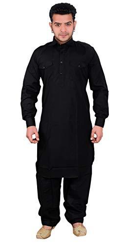 Desi Sarees Herren Pathani Kurta Pyjama Salwar Kameez 1853 (S (Brust - 36 Zoll), ()