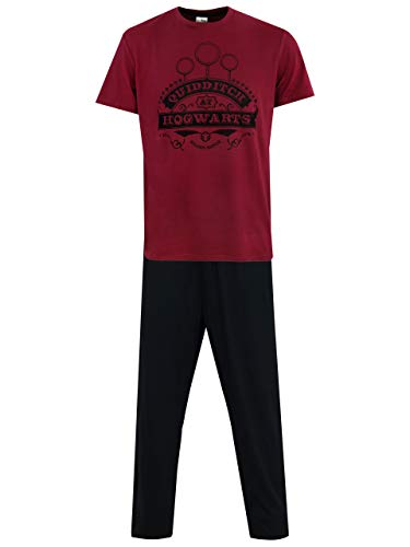 Harry Potter Pijama para Hombre Quidditch Negro XX-Large