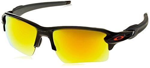 Oakley Herren Sportbrille Flak 2.0 XL Schwarz (Polished Black/Fire Iridium) 59