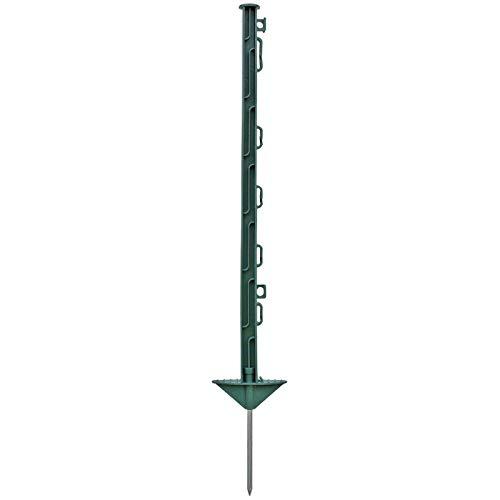 20x Poste para pastor eléctrico, largo 74cm, 7 ojales para hilo y...