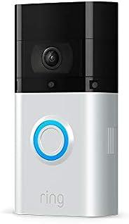 Ring Video Doorbell 3 Plus | 1080p HD-video, avancerad rörelsedetektion, 4 sekunders förhandsvisning och enkel