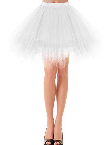 etro Petticoat Rock Ballett Blase 50er Tutu Unterrock White L ()
