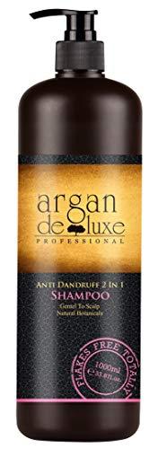 Zinkpyrithion Gegen Schuppen (Arganöl Anti-Schuppen Shampoo in Friseur-Qualität ✔ Hochwirksam, Getestet, Intensiv Pflegend ✔ Argan DeLuxe, 1000ml)