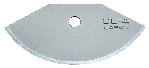 Olfa TCB-1 - Lot de 3 lames semi circulaires de 18,5 mm pour cutter TEC-1