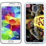 S5 I9600 Case,Lebron James 2 White Samsung Galaxy S5 Phone Case,Unique Style