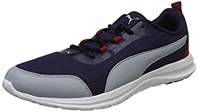 Puma Men's Peacoat-Quarry-Red Dahlia Sneakers-6 UK/India (39 EU) (4059507939111)