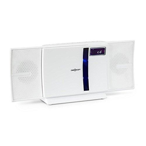OneConcept V-16-BT • Stereoanlage • Kompaktanlage • Bluetooth • CD-Player • USB • MP3 • UKW • LCD-Display • Wandmontage • weiß