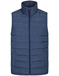 e3f1fc2f22ff95 Mountain Warehouse Seasons Textured Mens Padded Gilet Jacket - Microfibre  Insulation Body Warmer