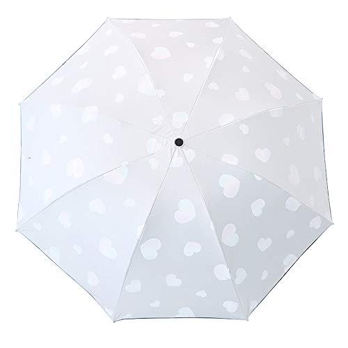Lirener Paraguas Cambio ColorPatrón corazón, Paraguas