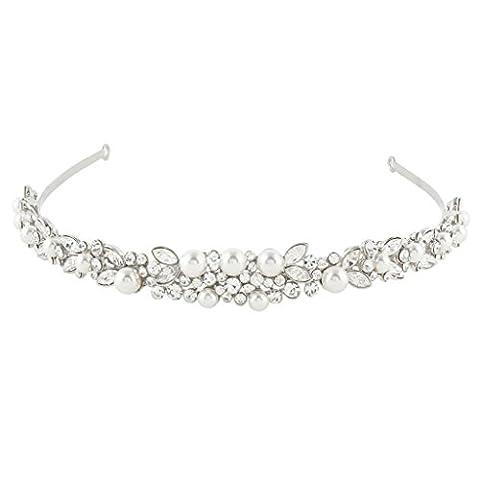 EVER FAITH® österreichischen Kristall elegant künstliche Perle Art Deco Braut