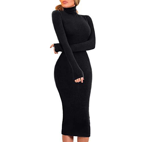 KPILP Fashion Womens Petticoat Langes Kleid Stehkragen Elegant Slim Fitness Hüft-Rock Jumper...