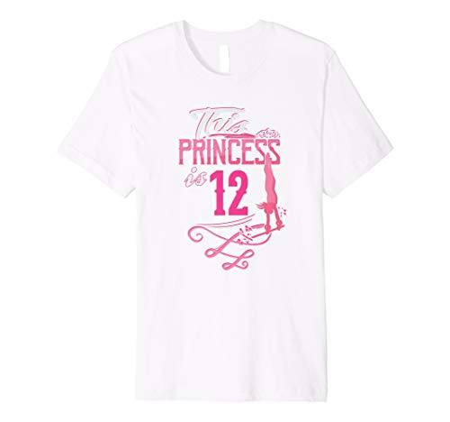 12th Birthday Shirt For Girl 12 Year Old Outfit Gymnast Gift