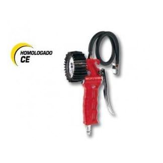 Cevik CA-60G-T/CEE – Accesorio De Neumatica Hinchador profesional de neumáticos homologado CE Nº 86/217, 0-10 bar. Manómetro con 63 mm de diam. Latiguillo 1 mt.
