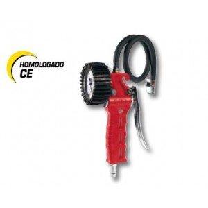 Cevik - Ca-60 g-t / cee - accessorio per gonfiaggio pneumatici professionali approvato ce n 86/217, 0-10 bar. manometro con il 80 mm di diametro. frusta di 1 metro.