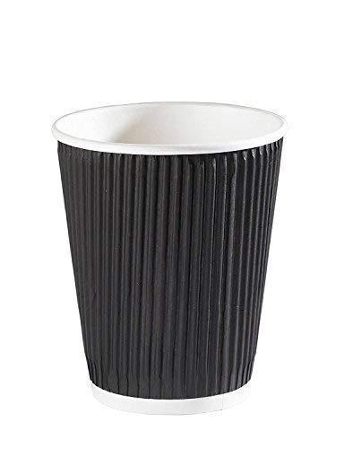 nous Pouvons Source IT - 50 x 340,2 gram Noir Ripple jetable Hot pour plats Tasses à café