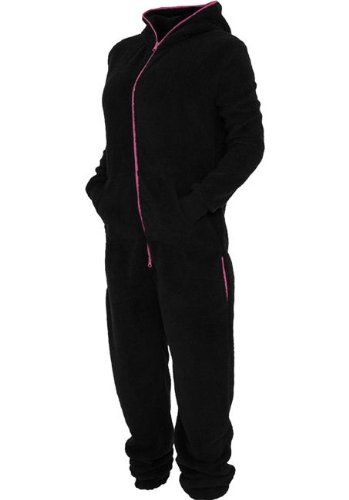 TB449 'Urban Classics' Ladies Teddy Jumpsuit (Various Colours), Farbe:blk/fuc - 2
