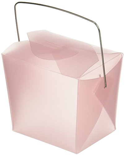 Chinese Take-out Boxes Containers for Party Favor Boxes, 1/2-Pint, Pink, 12-Pack ()